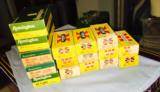 Yellow Western and Remington Green/White - Vintage boxes 7.65 mm or 30 cal Luger hard to find