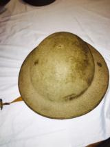 Steel American helmet used from WWI to WWII with leather liner -excellent condition