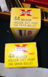 Vintage Yellow box 20 round 44 magnum in rare packaged boxes