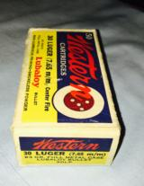 Bully's Eye 50 rd boxes of 30 Luger and 30 Mauser-colorfull & Rare