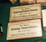 WWII Browning 9mm Long-two un opened boxes in mint condition