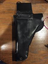 P-38 Holster -black leather -new condition - 3 of 4