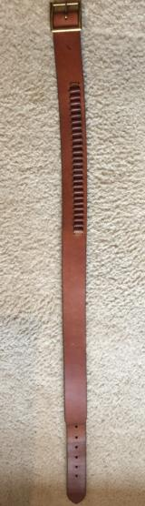 "Hi Hunter tan leather 34"" 25 loop -22 long rife-new condition"