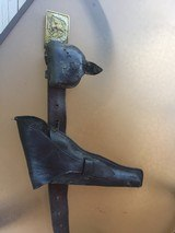 Original leaather belt and buckels from the Civil War -Augusta Maine manufacture - 7 of 12