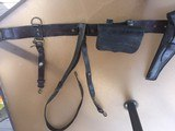 Original leaather belt and buckels from the Civil War -Augusta Maine manufacture - 10 of 12