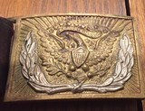 Original leaather belt and buckels from the Civil War -Augusta Maine manufacture