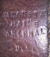 Original leaather belt and buckels from the Civil War -Augusta Maine manufacture - 3 of 12