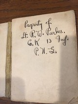 WW! G.I.Infantry dril regulations signed by owner Lt Parks-13 Inf PNG