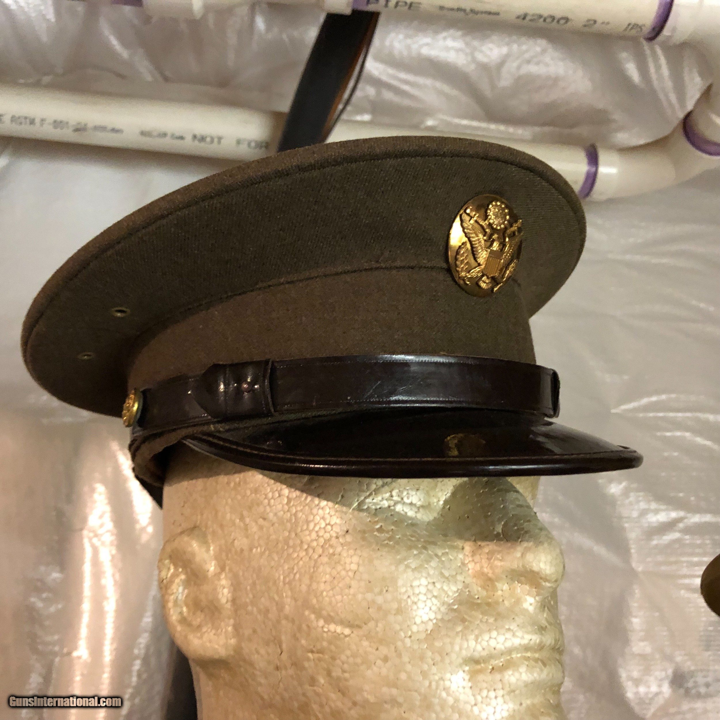 Mint Marine Corps Dress Hat With Visor Wwii For Sale