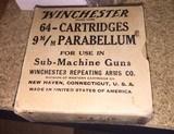Winchester Submachine gun Ammo in 64 roind box