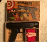 Marksman Air pistol -22 cal B-B Pellets and Darts in original factory box with partitions