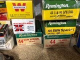six boxes of 44 Special 50 rds each