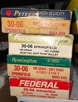 Four boxes 30-06, Peters,Remington, Federal Premium, Federal