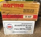 25 caliber -50 rounds per box
