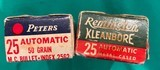 Two boxes of 25 caliber- ammunition