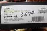 Browning X-Bolt Stainless Stalker Carbon Fiber Fluted 243 Win. NIB Discontinued - 12 of 14
