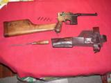 MAUSER RED 9 BROOMHANDLE FULL RIG IN EXCELLENT ORIGINAL CONDITION