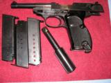 WALTHER P38 NAZI TIME PRODUCTION PROTOTYPE WITH 2 CALIBERS 9 mm & 30 Luger