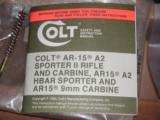COLT 9mm. CARBINE (R6450) AR-15 WITH 16 in. BARREL - 5 of 9