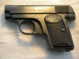 BROWNING BELGIUM FABRIQUE NATIONALE MODEL 1905 CAL. 25ACP PISTOL - 2 of 16