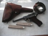 "MAUSER BANNER SWEDISH CONTRACT DATED CALIBER 7.65mm 4 3/4"" FULL RIG"