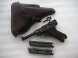 MAUSER LUGER NAZI MILITARY 1938 DATED IN LIKE NEW ORIGINAL CONDITION