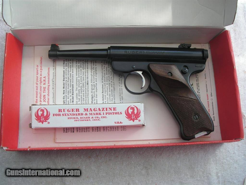 RUGER MARK-1 TARGET GUN IN MINT ORIGINAL CONDITION 1978 PRODUCTION
