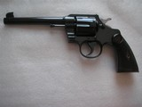 COLT OFFICER'S (SECOND ISSUE) 6 IN .38SPL HIGH LUSTER BLUE 1911 MFG IN MINT CONDITIN