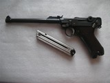 DWM ARTILERY LUGER 1917 DATED IN 98% ORGINAL FINISH WITH MATCHING S/N MAGAZINE