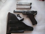 DWM LUGER DATED 1915 WW1 MILITARY LUGER FULL RIG WITH 2 MATCING S/N MAGAZINES