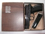 WALTHER MODEL P.88 LIKE NEW IN THE BOX, PAPERS, TEST TARGET 2-15ROUNDS MAGS