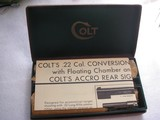 COLT 22 CONVERSION UNIT FOR MODEL TYPE 1911 PISTOLS IN LIKE NEW IN ORIGINAL BOX