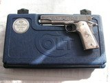 COLT GOVERNMENT MODEL ONE OF 300 BRIAN POWLEY MASTER ENGRAVER .38 SUPER - 17 of 20