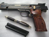SMITH & WESSON MOD. 41 CAL. .22LR 50th ANNIVERSARY ENGRAVED IN NEW CONDITION - 7 of 20