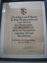 """ORIGINAL SS CERTIFICATE SIGNED BY H. HIMMLER, HAND & LETTERS PEN & INC """"REICH'S PARTY DAY"""" - 5 of 5"""
