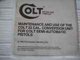 COILT 22 LR CONVERSION UNIT WAS NEVER USED IN ORIGINAL BOX AND THE MANUAL - 10 of 10