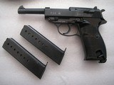WALTHERP 38 AC/42 IN LIKE NEW ORIGINAL 99% BEAUTIFUL BLUING FULL RIG 2 MAGS, HOLSTER - 2 of 20