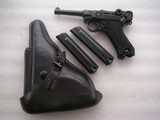 """LUGER 1942 """"BLACK WIDOW"""" FULL RIG IN LIKE MINT ORIGINAL ALL MATCHING CONDITION - 1 of 20"""