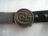 COLT TIFFANY STUSIO NEW YORK BUCKLE BELT 55 INCHES LONG, COLLECTIBLE ITEM