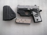 SIG/SAUER MODEL 238 CAL. .380 ACP W/LASER AND KNIGHT SIGHTSLIKE NEW CONDITION - 4 of 18