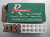 REMINGTON PARCIAL BOX 8 ROUNDS VINTAGE CALIBER 6.5 RE. MAG. SOFT POINT - 1 of 6