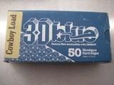44-40 CALIBER AMMO 50 HANDGUN CARTRIDGES 200GR COWBOY LOAD 30 BLUE USA