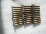 30 CALIBER US MILITARY M-1 CARBINE AMMO WITH 10 ROUNDS CLIPS