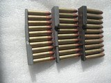 30 CALIBER US MILITARY M-1 CARBINE AMMO WITH 10 ROUNDS CLIPS - 2 of 3