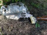 Engraved & Stocked 1879 'Orbea Hermanos' Smith &Wesson .44 Rus.Type Revolver
