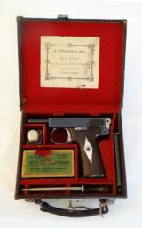 Excellent CASED WEBLEY MODEL 1908 AUTOMATIC PISTOL, .32 CALIBER