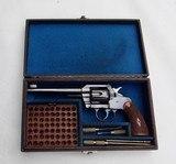EXCELLENT COLT 1st MODEL , 1907, 'OFFICERS MODEL' .38 REVOLVER, CASED - 1 of 14