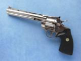 Colt Python Electroless Nickel Finish, Cal. .357 MagnumSOLD - 1 of 4