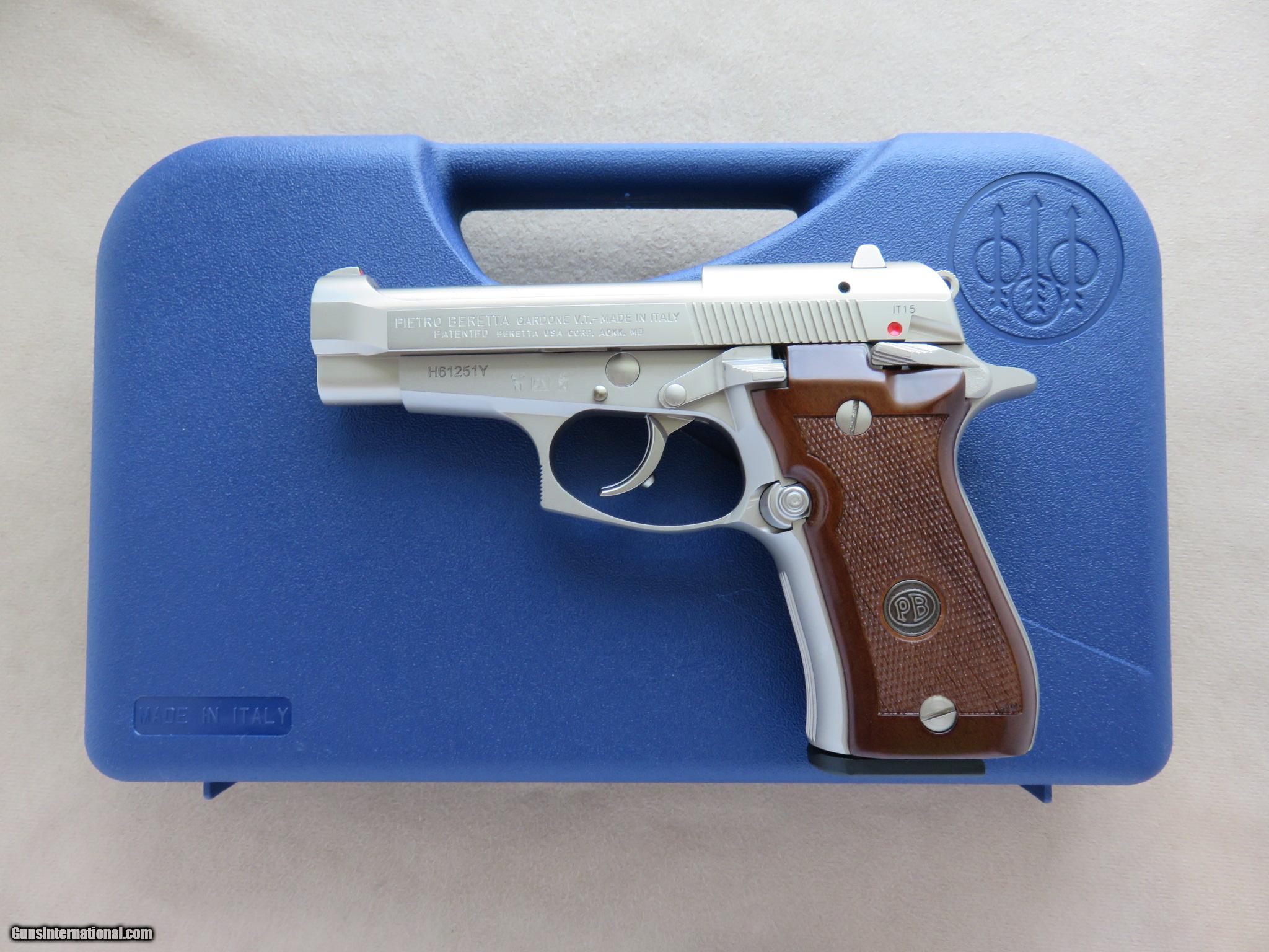 Beretta Model 84FS Cheetah  380 ACP Nickel Finish w/ Box