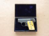 Colt 1908, Cased with Factory Ivory Grips, Cal. .25 ACPSOLD